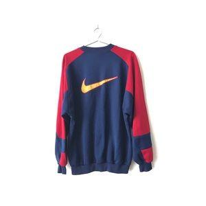 Nike FCB Barcelona Crew Neck Pullover Navy Red